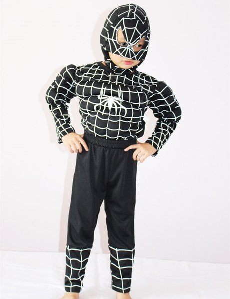 Halloween Costume 4 5.Spiderman Muscle Costume Halloween Costume For Kids 3 4 5 6 7 Boy Party Cosplay Role Playing Carnival Costume Superman Costume Halloween Costumes