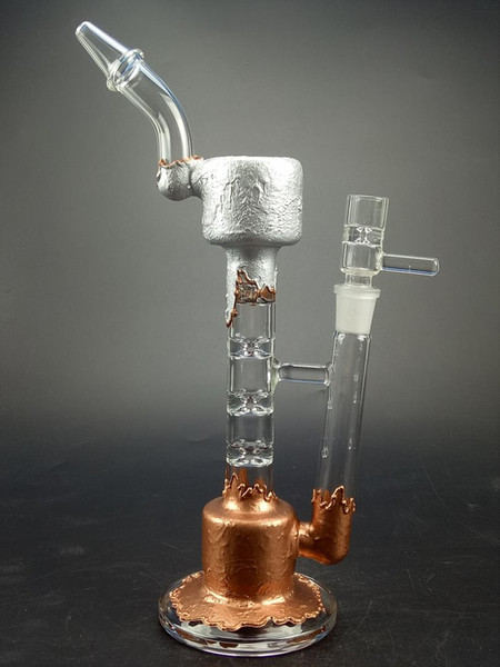 Amazing Upline Water Pipe with Spline Perc Glass Bong Oil Rig Pipes with 14.5mm Joint