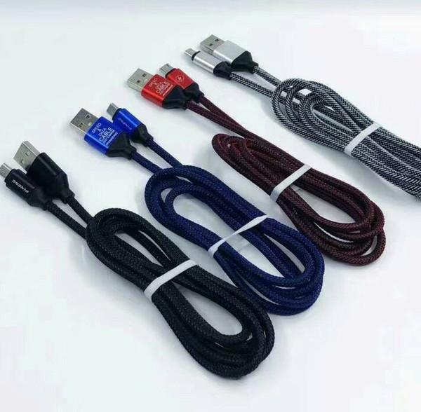 1.2 M 3.1 A скорость заряда OD4.5 металл Adatper рыбья кость Micro USB кабель нейлон плетеный шнур провод для телефона тип C USB кабель 200 шт./от