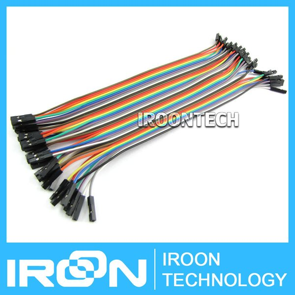 40pcs 1p-1p Female to Female jumper wire Dupont cable 20cm for arduino module