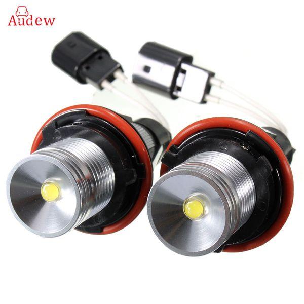 2Pcs 3W Blanco 6000K LED Ojos de ángel Anillo de halo Lámpara de luz Bombillas Marcador para BMW E39 X5 E60 E63 E64 E53 Faro libre de errores