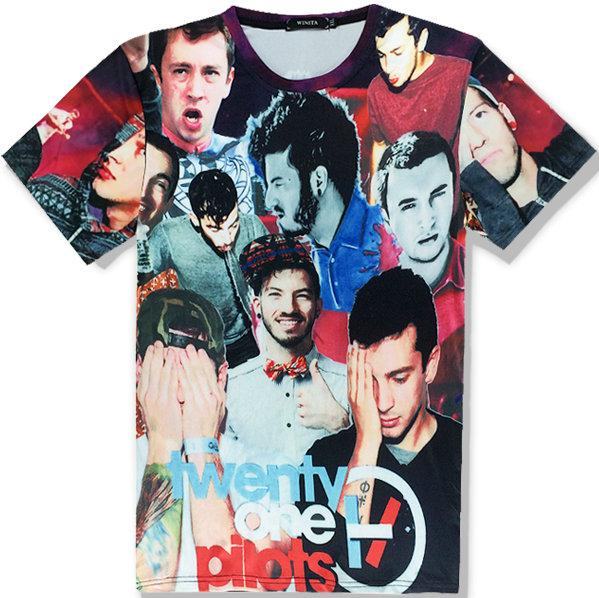 Twenty One Pilots T shirt Rock short sleeve Music band tees Casual clothing Unisex cotton Tshirt