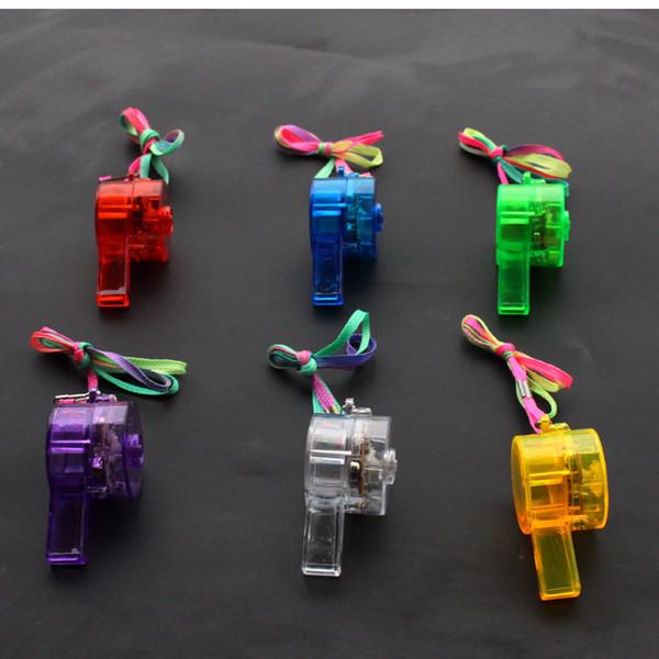 Light transparent whistle concert bar children light whistle, children's toys wholesale and retail