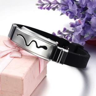 Jóias de moda coreana novos presentes personalizados homens titânio pulseira de silicone