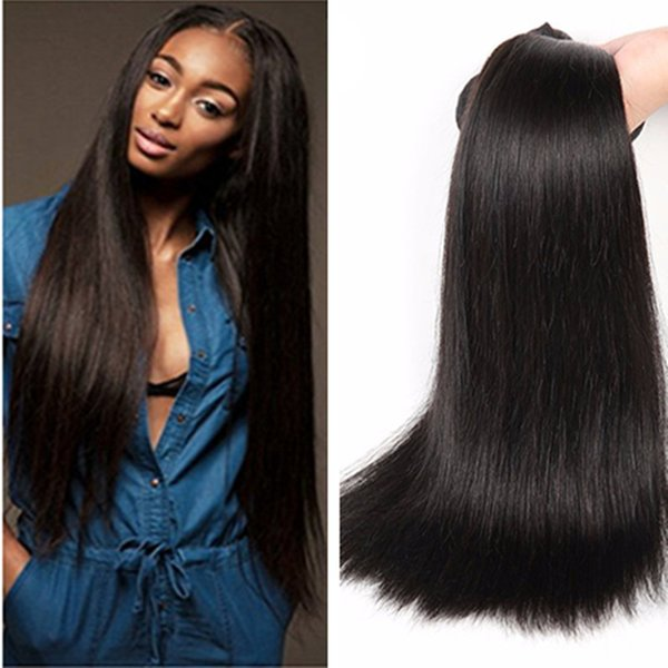 Brazil Straight Hair Products Cheap Brazilian Human Hait 100g bundle Factory Outlet Price No Tangle No Shed Free Shipping