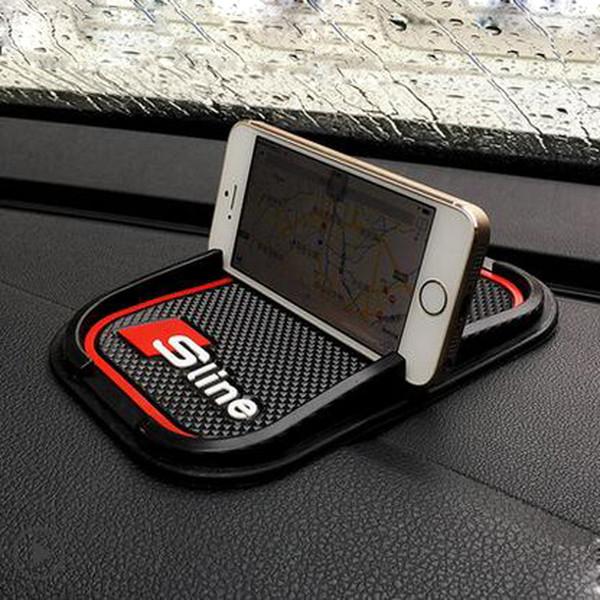 Противоскользящая автомобильный телефон мат GPS поддержка наклейки для Audi A2 A3 A4 A6 A8 A7 TT Q3 Q5 Q7 RS3 RS5 RS7