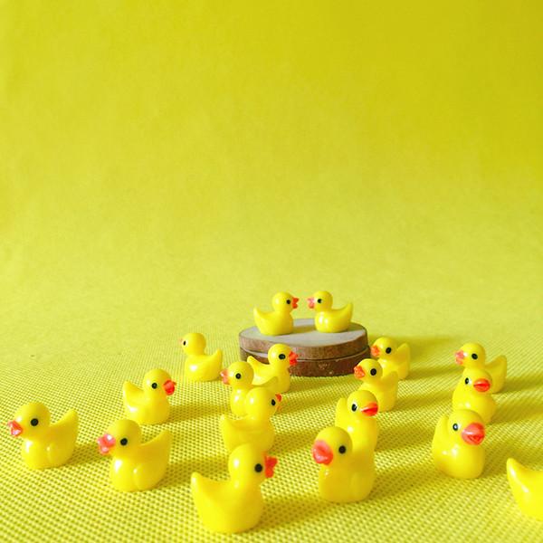 sale~12 Pcs/resin yellow duck /miniatures/lovely animals/fairy garden gnome/moss terrarium decor/crafts/bonsai/ DIY/c043