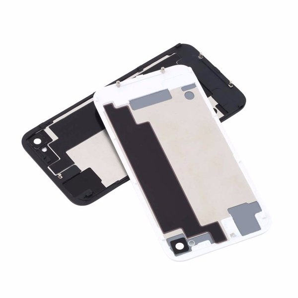 Good AAA Back Battery Housing Cover Glass Replacement for iPhone 4G 4S - white with dhl free shipping