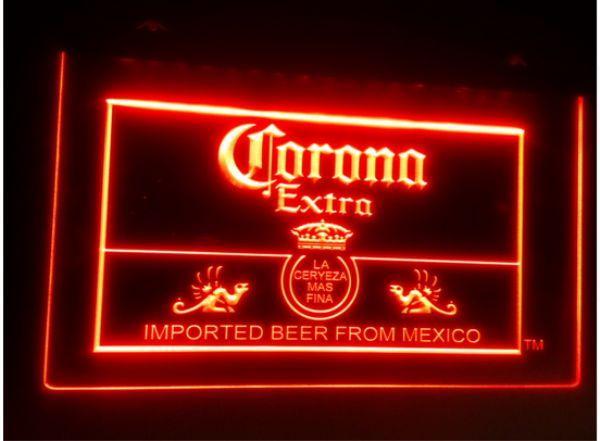 top popular Corona Mexico beer bar pub club 3d signs led neon light sign home decor crafts 2021