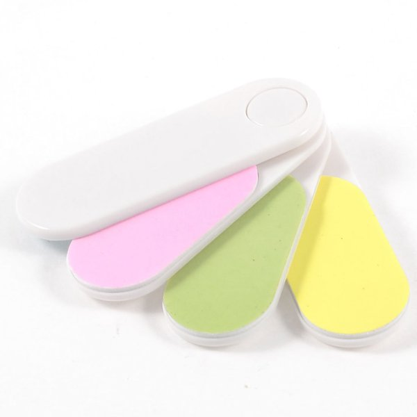 Wholesale- Nail Art Tool Assorted Color Foldable 4 Way Shiner Sanding Block Nail File Buffer