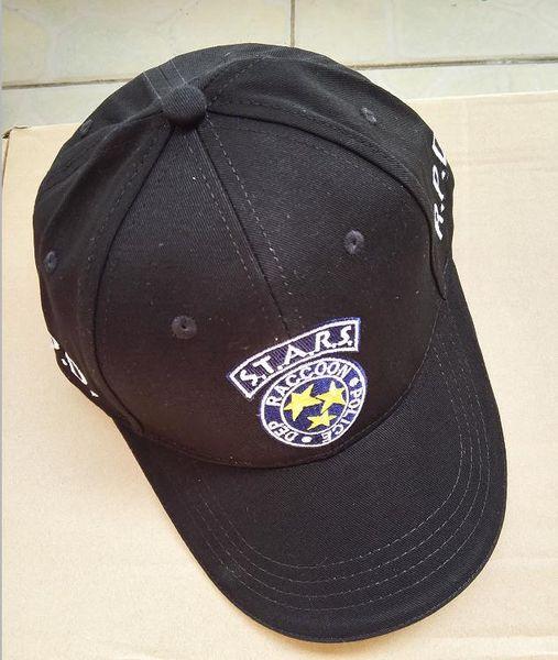 35aa6340ebe6b6 Resident Evil STARS Hat Adjustable Baseball Cap Black For Men And Wemen free  shipping
