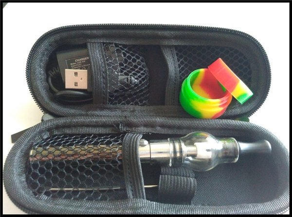 portable wax dry herb vape pen vaporizer ceramic quartz coil glass globe glass dome vaporizer e cigarette wax oil e solid smoker