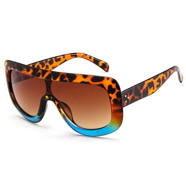 Leopard Blue Frame Brown Lens