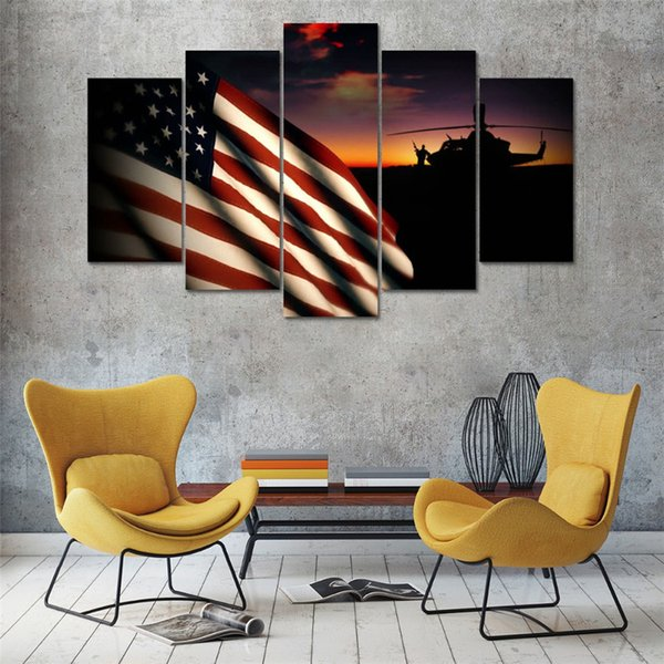 2019 Solrs In Front Of US Military Flag ,Home Decor HD Printed Modern on mid century modern wall design, inspirational wall design, curtain wall design, handmade wall design, decorating idea wall design, exterior home wall design, rustic log cabin wall design, quilting wall design, modern interior wall design,