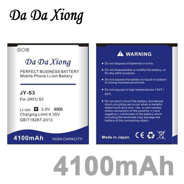 best selling Da Da Xiong 4100mAh JY S3 JY-S3 Phone Battery for JIAYU S3