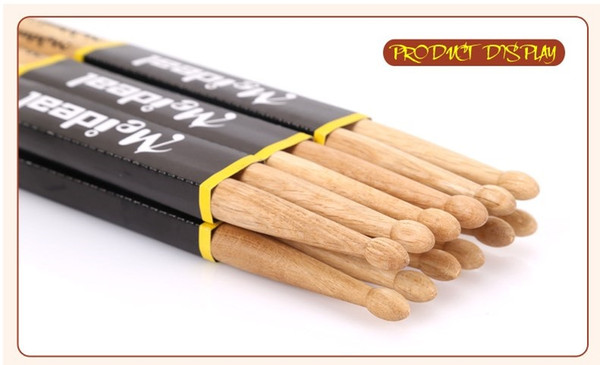 best selling 1 Pair of 41CM Burlywood 5A North American Maple Wood Drumsticks Stick for Drum Drums Set Lightweight Professional Top Quality free shipping