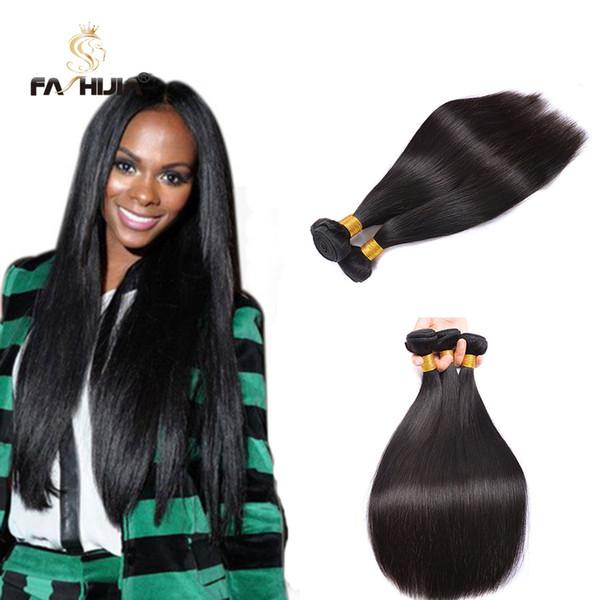 Fashijia brazillian straight hair weave 3pcs 8-30 inch 95-100g/pcs ...
