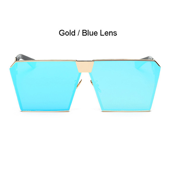 Gold Frame Bleu Lens