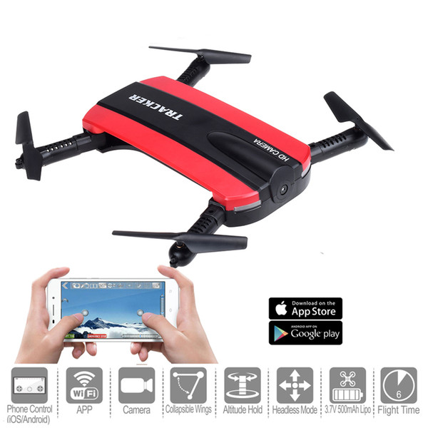 Foldable Drone With Camera Pocket Fpv Quadcopter RC Drones Phone Control Wifi Mini Drone Elfie Selfie Drone With Retail Package 10pcs