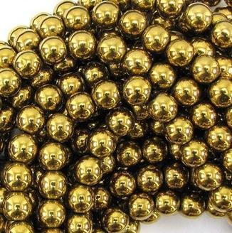 t353 8mm 10mm 200pcs / lot haute puissance Hematite perles de perles rondes livraison gratuite