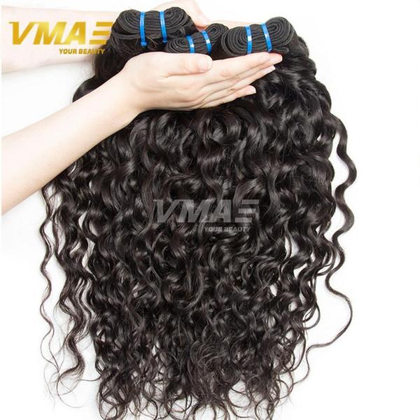 Brasiliani dell'oceano tessono capelli vergini 3 pz lotto brasiliano water wave vmae azienda dei capelli vergini bagnato ed ondulato fasci di tessuto dei capelli umani