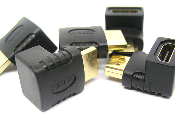 HDMI Male to Female Converter Adapter HDMI M/F L Shaped Right Angle 90 Degree Elbow Video Adapter Connector 1000pcs/lot
