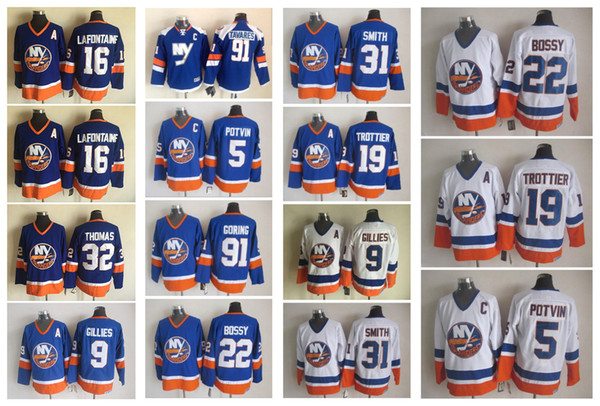 a852b557 ... france jerseys de hockey hielo 91 john tavares 31 billy smith 16 andrés  ladd new york