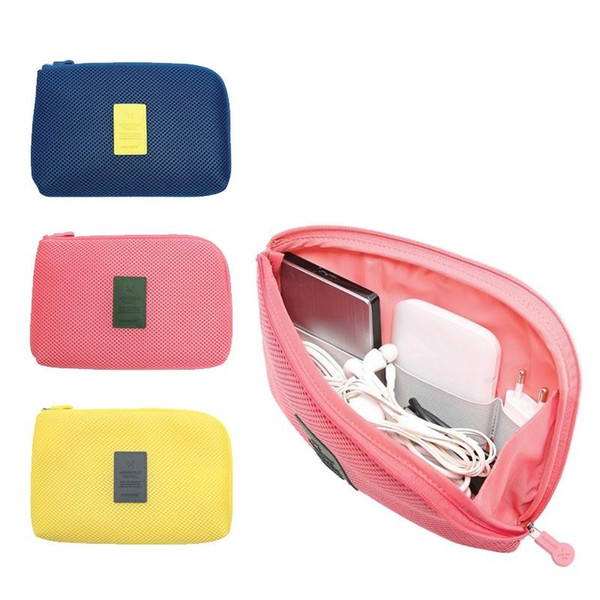Mobile Phone Storage Bag Travel Organizer Pouch Shockproof Digital Sync Data Charging Cable External Hard Driver Power Bank Organizer Pack