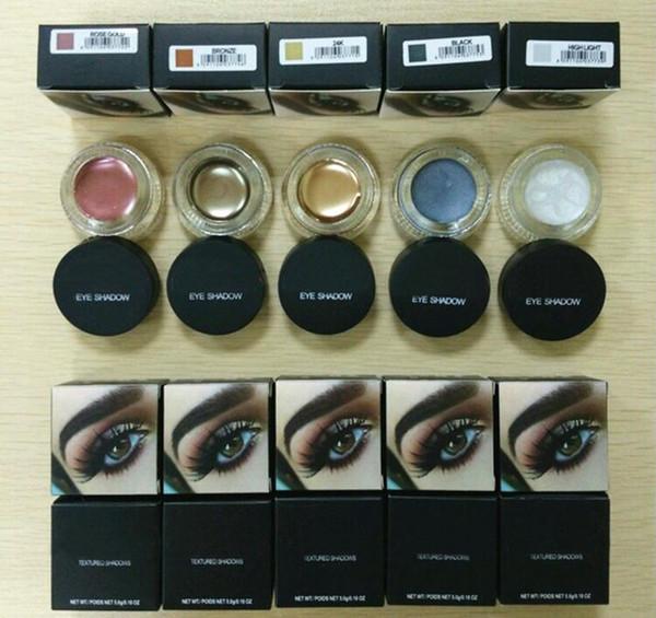 top popular 2017 eyeshadow palette 5 colors Rose gold Bronze 24K Black High light Eyeshadow Pro Eyes Makeup Cosmetics DHL Free 2019