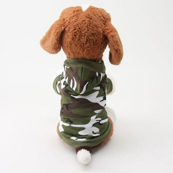 PuppySmall Pet Dog Green/Pink Camouflage Hoodies T-shirt Coat ClothesXS-L