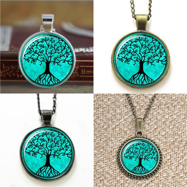 10 adet Hayat Ağacı Kolye Cam Fotoğraf Kolye anahtarlık imi kol düğmesi küpe bilezik
