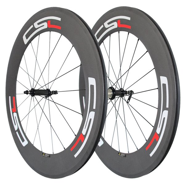 Ceramic Bearing R36 carbon hub 88mm Clincher/ Tubular/ Tubeless carbon road bicycle wheels 23mm,25mm rim width