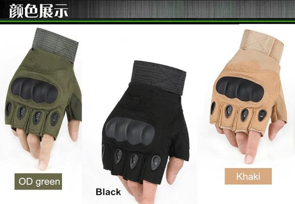 best selling Army tactical glove half finger outdoor glove anti-skidding sporting gloves 3 colors 9 size for option