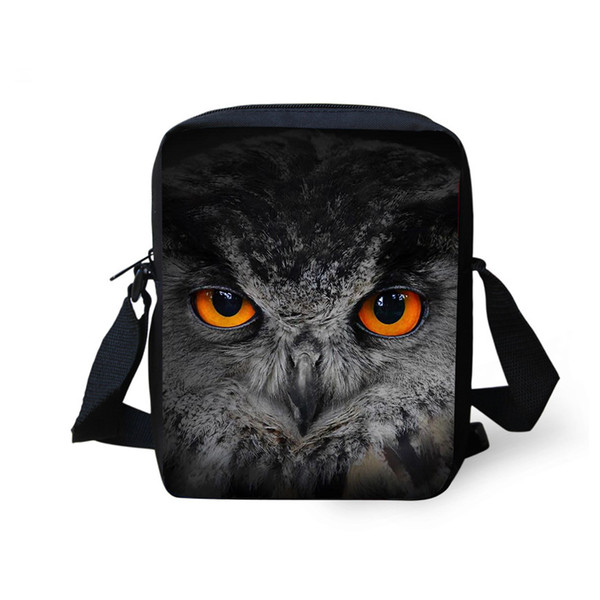 Wholesale- Owl Bag Panda Mini Messenger Bags for Women 3d Animal Crossbody Bags Bolsos Mujer Small Shoulder Bags Girl Handbags Multicolor