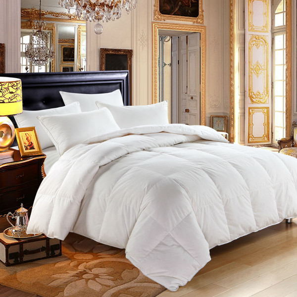All'ingrosso- Peter Khanun White Duck Down Winter Quilt / Comforter / Duvet / Coperte 100% Cotton Shell 233TC Twin Full Queen King Top Quality 019