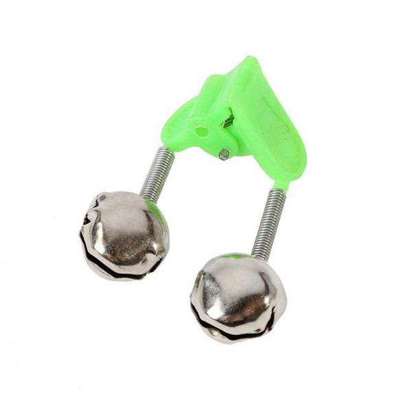 20 Stücke Doppel Glocken Angeln Bissanzeiger Angelrute Clamp Tipp Clip