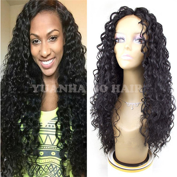 High quality 1b tight curly virgin brazilian human hair lace front wig can ponytail free shipping
