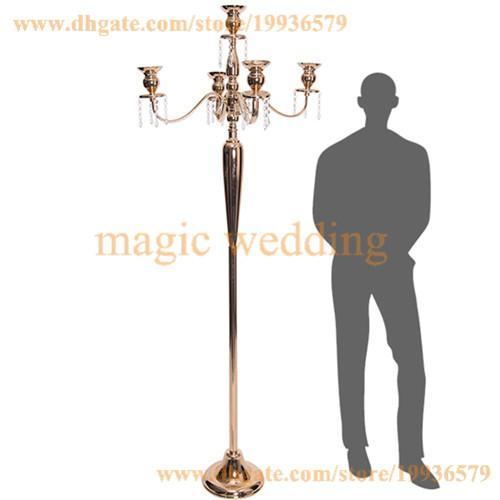 10 X gold 5 arm candelabra