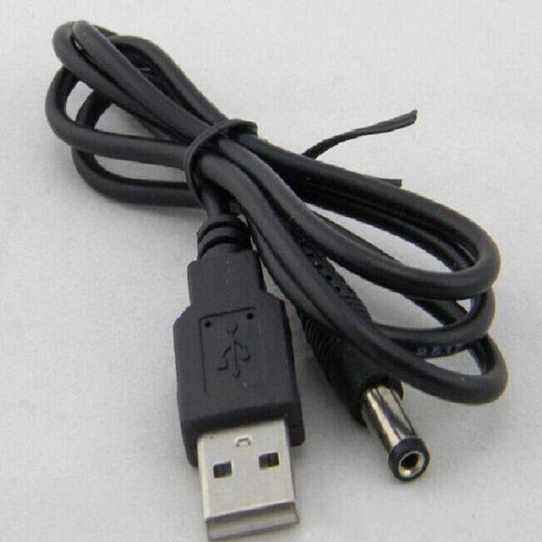 Высокое качество 300 шт. / Лот USB зарядный кабель 5.5 мм * 2.1 мм USB TO DC 5.5 * 2.1 мм Разъем для кабеля питания без упаковки DHL Free