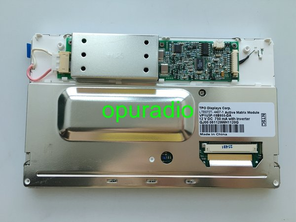 "Brand new TPO Display LTE072T-050 LTE072T-4408-1 7.2"" mobile Display 12V LCD module for Peugeot Bentley car audio system"