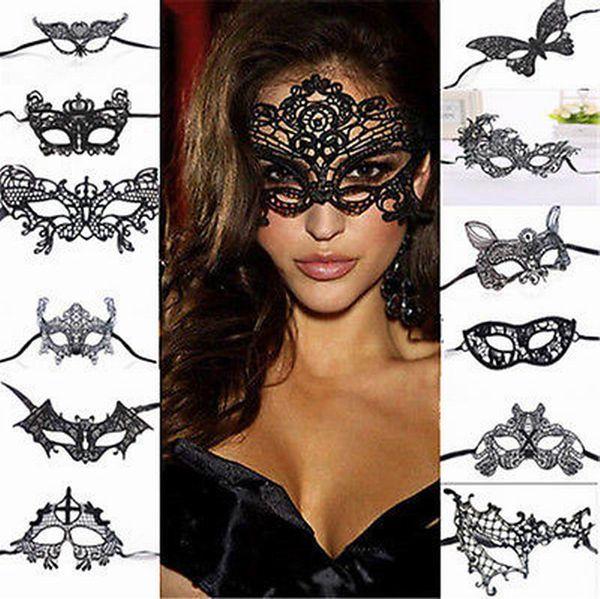 Halloween Masques Femmes Sexy Dentelle Masque Pour Les Yeux Partie Masques Pour Mascarade Halloween Costumes Vénitiens Masque De Carnaval Pour Anonyme Mardi