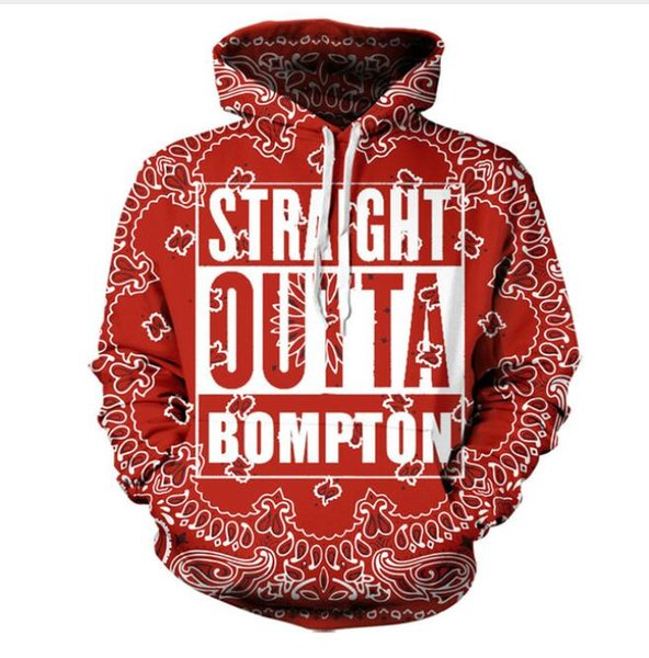 New Fashion Men/Women Sublimation STRAIGHT OUTTA BOMPTON Funny 3d Sweatshirts Hoodies Autumn Winter casual Print Hooded Pullovers Tops