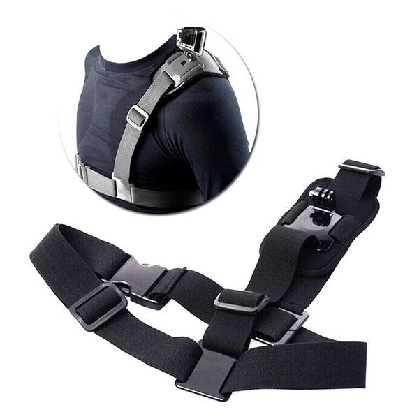 Accesorios de adaptador de correa de arnés de pecho de montaje en correa de hombro solo para la acción de deporte Cam Envío gratis