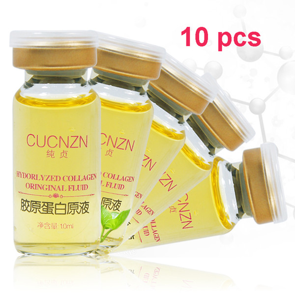 best selling Wholesale 10 pcs Hydrolyzed Collagen Original Fluid Pure Collagen Face Essence Firming Skin Care Essence 10ML