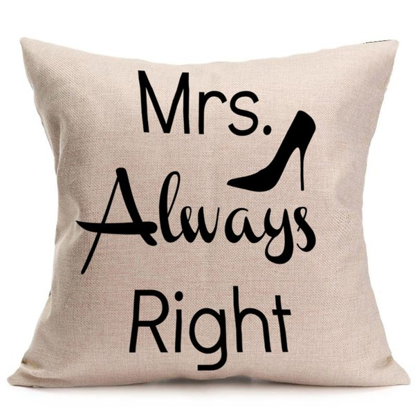 Flax Cushion Cover Comfortable Creative Design English Letter Printed Pillow Case Home Decor Hot Sale 5 5nt J R