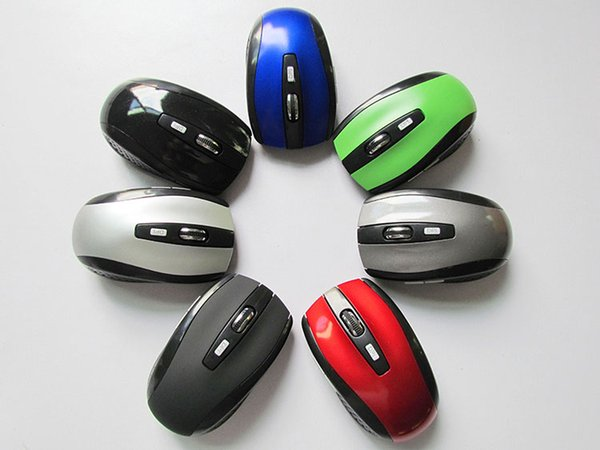 best selling USB Optical Wireless Mouse USB Receiver mouse 6D 7500 Energy-Saving Mice for Game Computer Tablet PC Laptop With Retail Package DHL