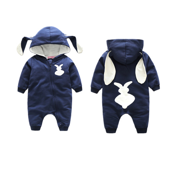 Newborn infant baby toddler rompers hooded rabbit jumpsuits animals boys girls bodysuits children cotton kids clothing long sleeve pajamas