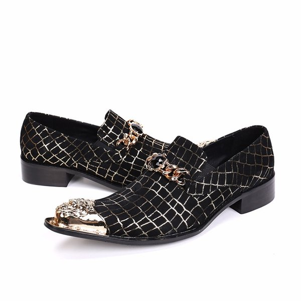 Herren Pointed Toe Business Formale Kleid Schuhe Slip On