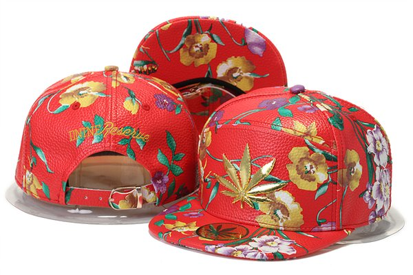 Улица Мода Лист Snapback Шляпы Мужчины Gorras Masculino Лист Плоский Бейсболка Chapeau Homme Мужские Женские Gorras Регулируемая