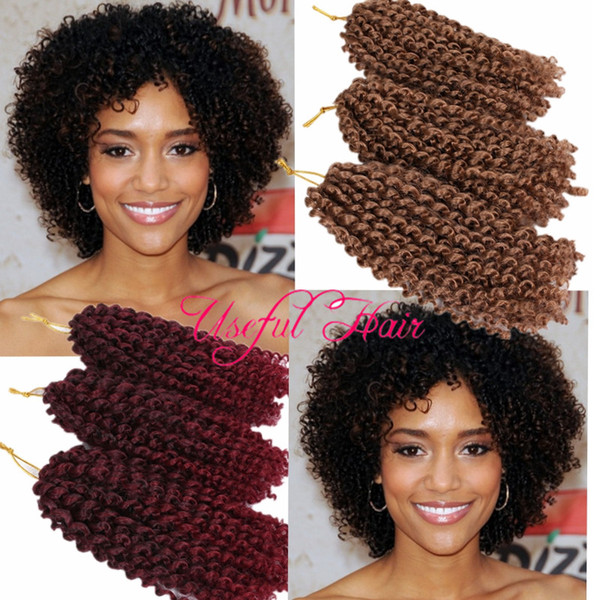 Christmas Hairstyles For Black Hair.2019 Malibob Crochet Hook Christmas Gift Marlybob Afro Kinky Curly 8inch Mali Bob Hair Extensions Synthetic Bariding Hair Crochet Braids From
